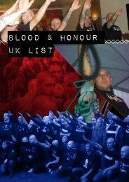 BLOOD & HONOUR uk list