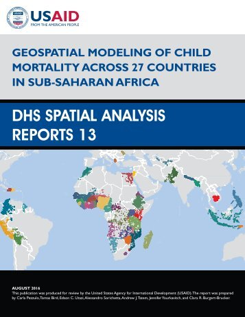 DHS SPATIAL ANALYSIS REPORTS 13