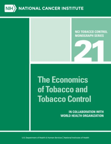 The Economics of Tobacco and Tobacco Control