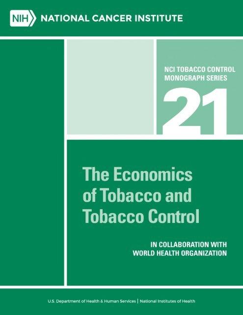 The Economics of Tobacco and Tobacco Control