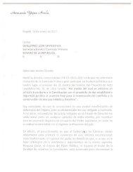 Carta del Jurista Hernando Yepes a la Comisión Primera del Senado