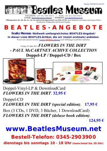 Beatles Museum - Katalog 70 mit Hyperlinks