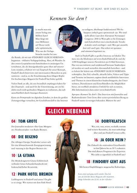 FINDORFF GLEICH NEBENAN Nr. 1
