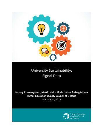 University Sustainability Signal Data