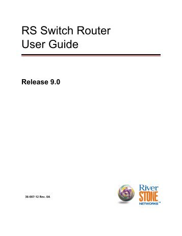 RS Switch Router User Guide