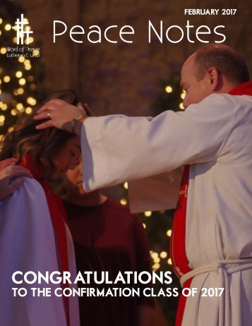 Peace Notes-February 2017 - Word of Peace Lutheran Church
