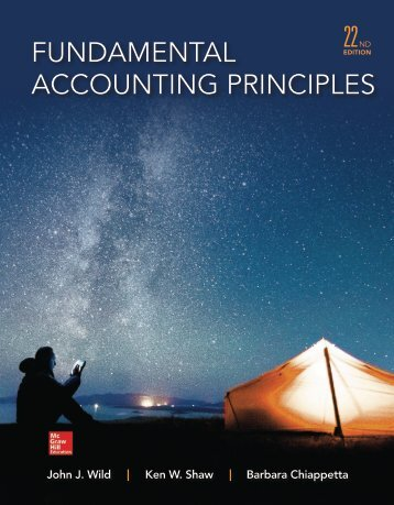 Fundamental Accounting Principles 22nd edition by Wild Shaw and Chiappetta
