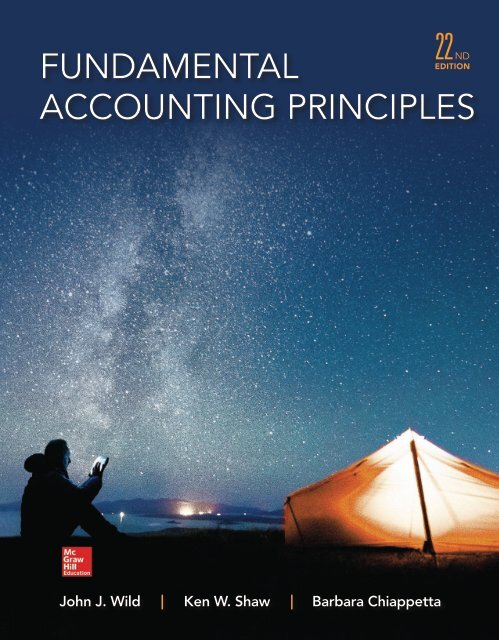Fundamental Accounting Principles 22nd edition by Wild Shaw and