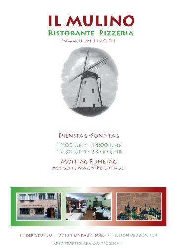 Speisekarte 2017 - Il Mulino Lindau