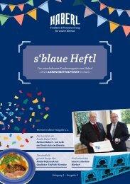 s'blaue Heftl - Haberl Kundenmagazin Ausgabe 4 / 25.01.2017