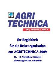 Wir fahren zur AGRITECHNICA 2009!