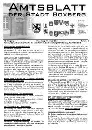 Amtsblatt vom Donnerstag, den 19. Januar 2012, Nummer - Boxberg