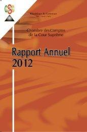 Chambre des Comptes de la Cour Supreme - Rapport Annuel 2012