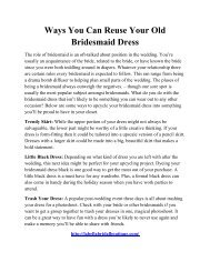 Ways You Can Reuse Your Old Bridesmaid Dress