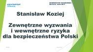 i wewnętrzne ryzyka dla bezpieczeństwa Polski