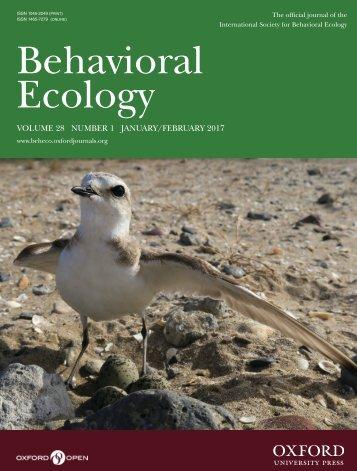 Behavioral Ecology