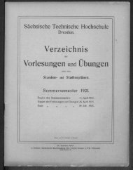Verzeichnis der Vorlesungen und Übungen samt den Stunden- und Studienplänen Sommersemester 1921