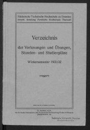 Verzeichnis der vorlesungen und Übungen, Stunden- und Studienpläne Wintersemester 1931/32
