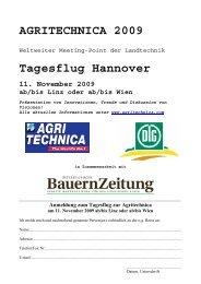 Hannover - retour am Mittwoch, 11. November 2009 - Agritechnica