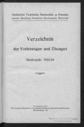 Verzeichnis der Vorlesungen und Übungen Studienjahr 1933/34