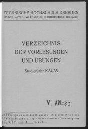 Verzeichnis der Vorlesungen und Übungen Studienjahr 1934/35