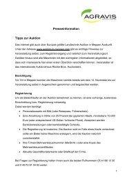 Lesen Sie hier weiter - AGRAVIS Raiffeisen AG