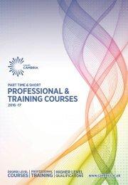 PROFESSIONAL & TRAINING COURSES