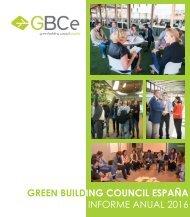 GREEN BUILDING COUNCIL ESPAÑA INFORME ANUAL 2016
