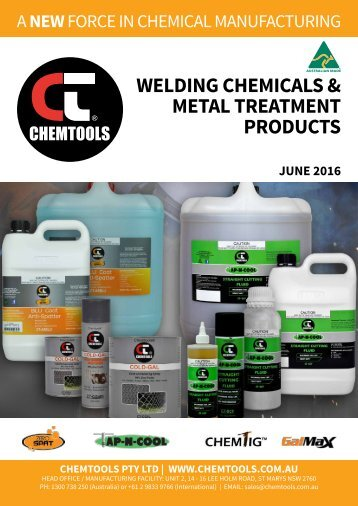 Chemtools Welding Products Catalogue