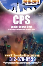 2016-17 CPS Vendor Source Book