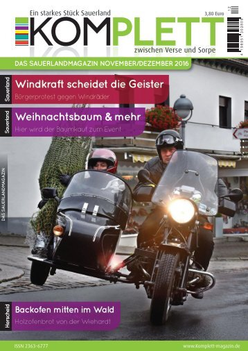Komplett DAS Sauerlandmagazin Ausgabe November/Dezember 2016