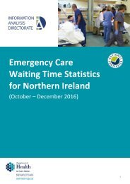 Waiting Time Statistics for Northern Ireland