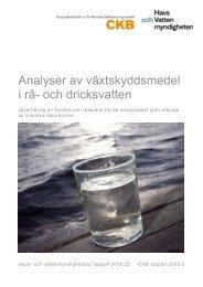 Analyser av växtskyddsmedel i rå- och dricksvatten
