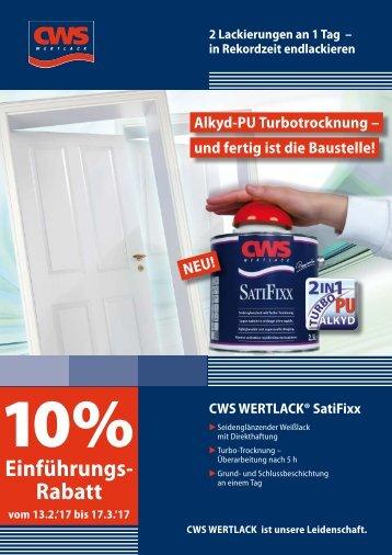 CWS WERTLACK ® Satifixx Flyer