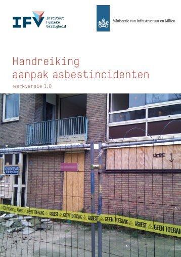 Handreiking aanpak asbestincidenten