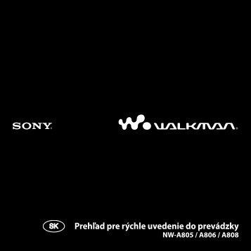 Sony NW-A805 - NW-A805 Istruzioni per l'uso Slovacco