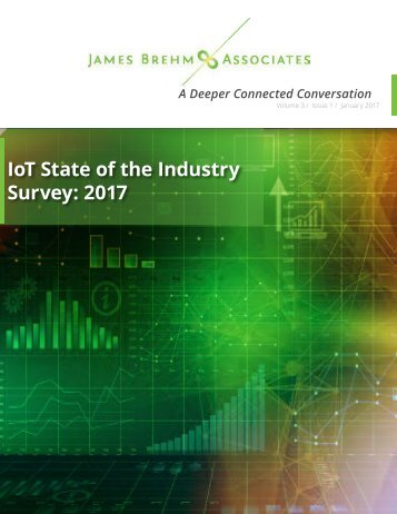 IoT State of the Industry Survey 2017