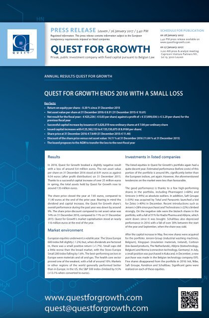 Quest for growth