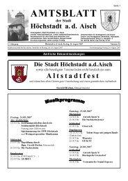 Altstadtfest - Stadt Höchstadt a. d. Aisch