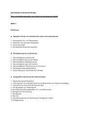NATURSCHUTZ IN DEUTSCHLAND Ziele und ... - Nabu