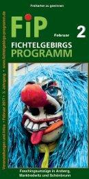 Fichtelgebirgs-Programm - Februar 2017
