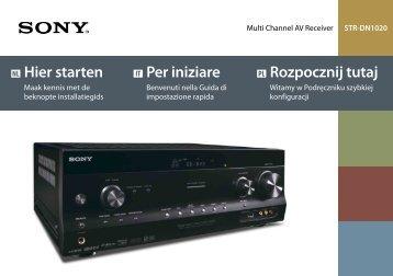 Sony STR-DN1020 - STR-DN1020 Guida di configurazione rapid Olandese