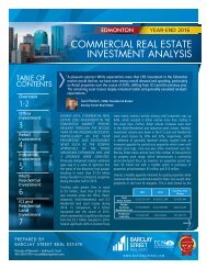 COMMERCIAL REAL ESTATE INVESTMENT ANALYSIS