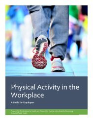 Physical Activity in the Workplace