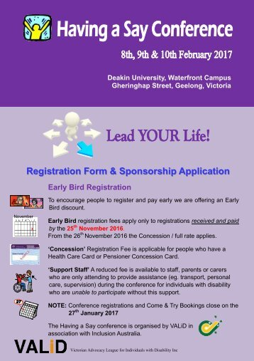 Registration Form & Sponsorship Application