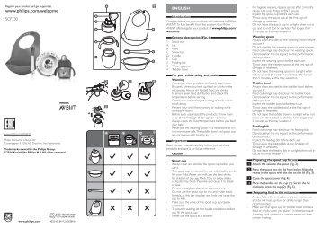 Philips Kit diversification - Mode d'emploi - FRA