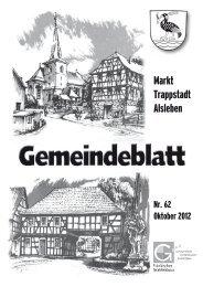 Gemeindeblatt Oktober 2012