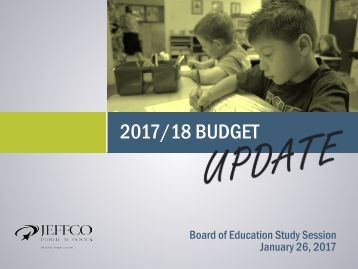 2017/18 BUDGET