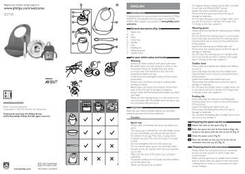 Philips Kit diversification - Mode d'emploi - POL