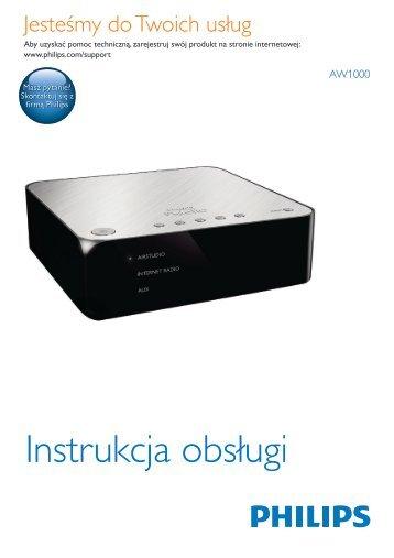 Philips Fidelio Lien hi-fi sans fil A1 - Mode d'emploi - POL